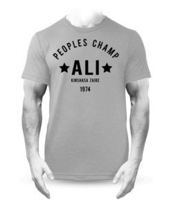 Muhammad Ali Rumble in the Jungle Boxing T-Shirt Grey