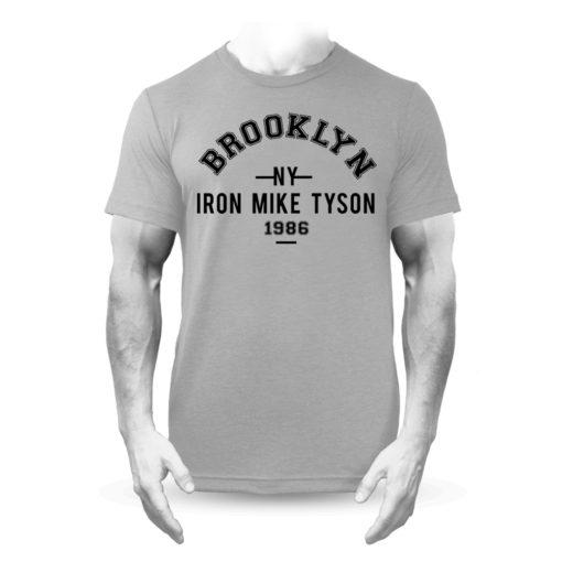 Iron Mike Tyson Brooklyn Boxing T-Shirt Grey
