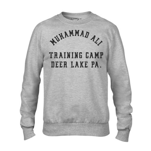 Muhammad Ali Deer Lake Training Camp Grey Premium Crew Sweater