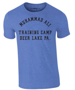 Muhammad Ali Deer Lake Boxing Training Camp Premium T-Shirt Blue