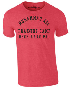 Muhammad Ali Deer Lake Boxing Training Camp Premium T-Shirt Red