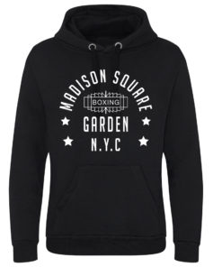 Madison Square Garden NYC Boxing Black Superior Premium Heavy Hoodie