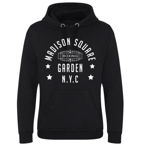 Madison Square Garden NYC Boxing Black Superior Premium Heavy Hoodie