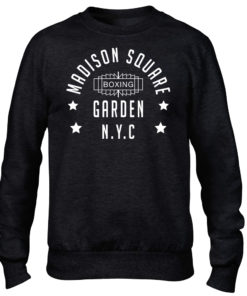 Madison Square Garden NYC Boxing Black Premium Crew Sweater Jumper