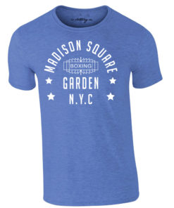 Madison Square Garden NYC Boxing Premium T-Shirt Blue