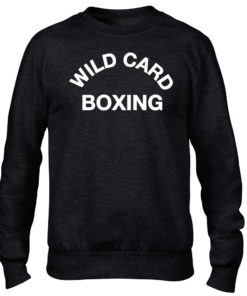 Wild Card Boxing Premium Black Crew/sweater/jumper Boxing