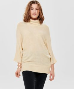 Only JDY Delta Roll Neck Batwing Knit - Eggnogg