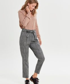 Only Paper Bag Waist Check Trousers
