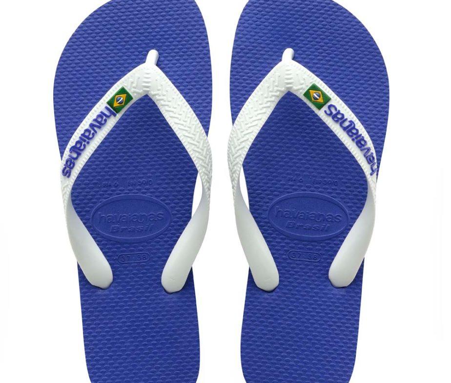 37a3690b1 Havaianas Mens Brasil Logo Marine Blue Flip Flops - IC Clothing