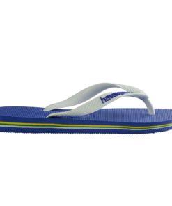 Havaianas Mens Brasil Logo Marine Blue Flip Flops