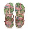 Havaianas Kids Childrens Girls Freedom Print Rose Nude Flip Flops