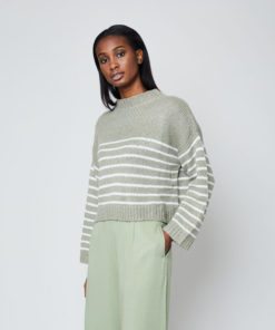 Native Youth Sage Striped Knit