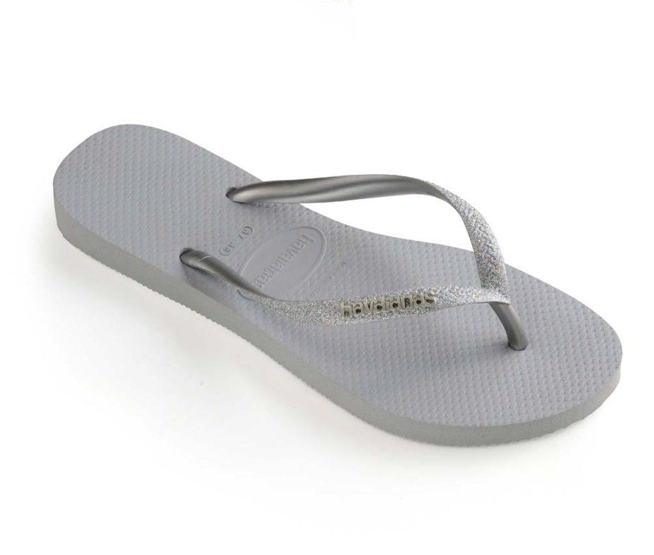 71314d73599 Havaianas Womens Slim Glitter Steel Grey Flip Flops - IC Clothing