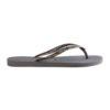 Havaianas Womens Slim Logo Metallic Steel Grey/Graphite Flip Flops