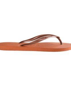 Havaianas Womens Slim Orange Bronze Flip Flops