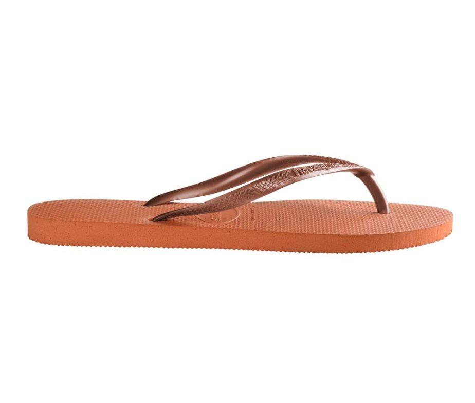 cba91e606 Havaianas Womens Slim Orange Bronze Flip Flops - IC Clothing