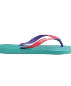 Havaianas Womens Top Mix Lake Green/Flamingo Flip Flops