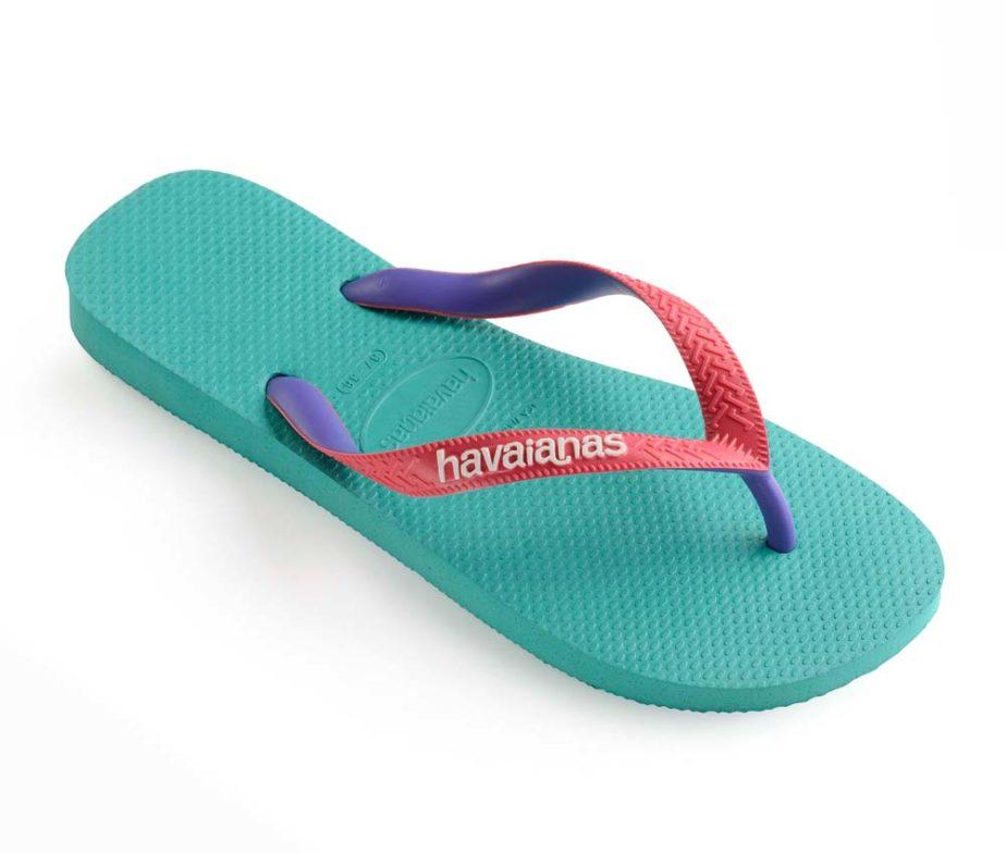 68e9403bae55 Havaianas Womens Top Mix Lake Green Flamingo Flip Flops - IC Clothing