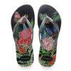 Havaianas Womens Slim Tropical Black / Graphite Flip Flops