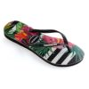 Havaianas Womens Slim Tropical Floral Black / Imperial Palace Flip Flops