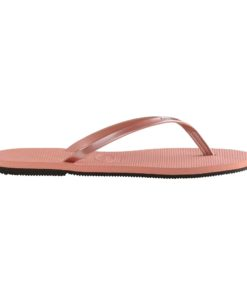 Havaianas Womens You Metallic Rose Nude Flip Flops