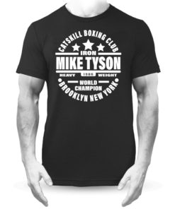 Iron Mike Tyson Catskill Boxing Club Brooklyn T-Shirt Black