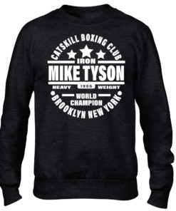 Iron Mike Tyson Catskill Boxing Club Brooklyn Mens Black Crew