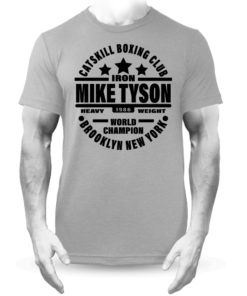 Iron Mike Tyson Catskill Boxing Club Brooklyn T-Shirt Grey