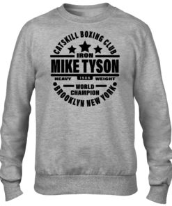 Iron Mike Tyson Catskill Boxing Club Brooklyn Mens Grey Crew