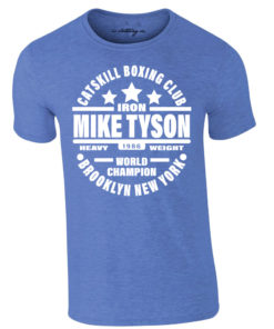 Iron Mike Tyson Catskill Boxing Club Brooklyn T-Shirt Heather Royal