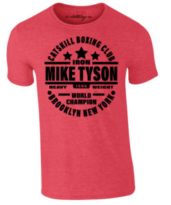 Iron Mike Tyson Catskill Boxing Club Brooklyn T-Shirt Heather Red