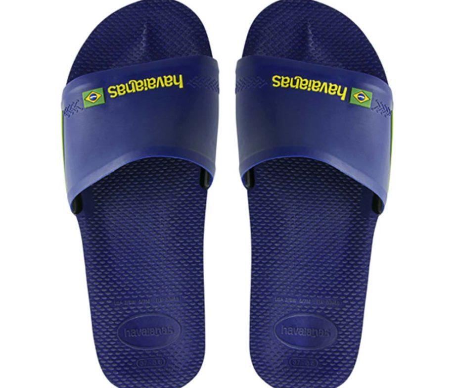 81ce5385d6bf4 Havaianas Mens Slide Brasil Navy Blue Slider Sandal