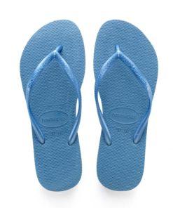 Havaianas Womens Slim Blue Flip Flops
