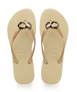 Havaianas Womens Slim Metal Pin Sand Grey Flip Flops
