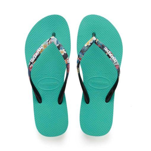 Havaianas Womens Slim Strapped Lake Green Flip Flops