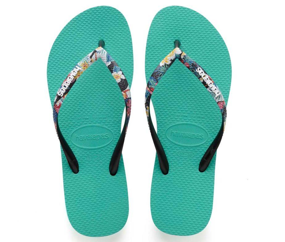 5f45cdc4e Havaianas Womens Slim Strapped Lake Green Flip Flops