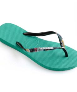 Havaianas Womens Slim Strapped Lake Green Flip Flops