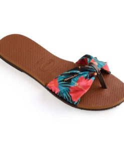 Havaianas Womens You Saint Tropez Rust Flip Flops