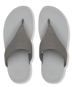 Fitflop Lulu Shimmer Pewter Ladies Toe-Thongs Sandals