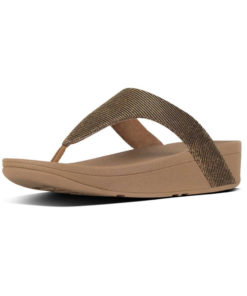 Fitflop Lottie Glitzy Bronze Ladies Toe-Thongs Sandals
