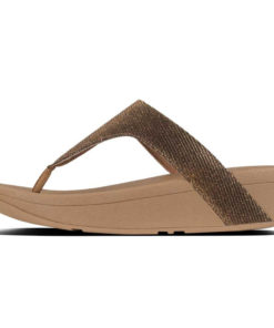 Fitflop Lottie Glitzy Bronze Ladies Sandals Toe Thongs
