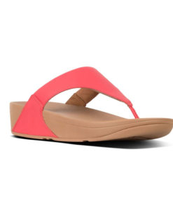Fitflop Lulu Leather Passion Red Ladies Toe-Thongs Sandals