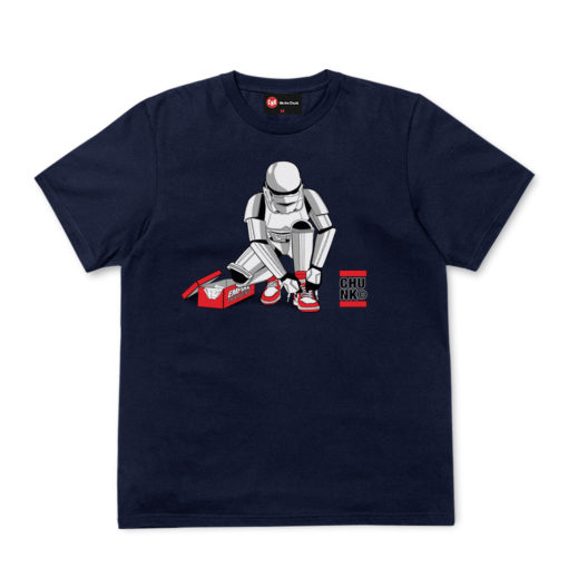 Chunk Out Of The Box Navy T-Shirt