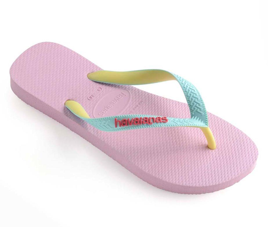 2b0e2efbb Havaianas Womens Top Mix Rose Quartz Ice Blue Flip Flops - IC Clothing