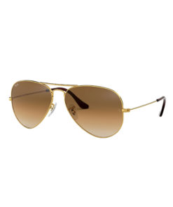 Ray-Ban Aviator Gradient Gold Light Brown Sunglasses RB3025-001/51