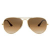 Ray-Ban Aviator Gradient Gold Light Brown Sunglasses RB3025-001/51