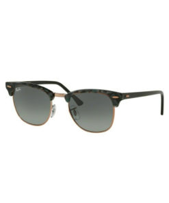 Ray-Ban Clubmaster Fleck Spotted Grey Green Sunglasses RB3016-1255