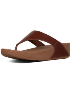 Fitflop Lulu Leather Cognac Ladies Toe-Thongs Sandals