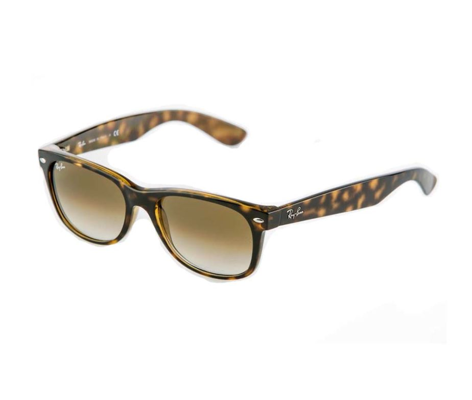 3dda9a890 Ray-Ban New Wayfarer Flash Gradient Tortoise / Gold Sunglasses - IC ...