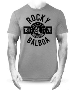Rocky Balboa Boxing Club T-Shirt Grey